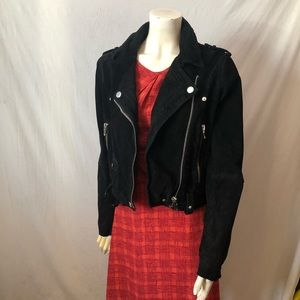 Blank nyc morning suede moto leather jacket